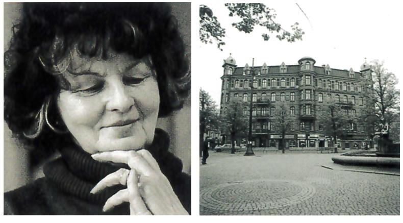 Tv .Brita Larson, skolchef på Hovedskous målarskola från 1966. Th. Skolan på Järntorget mellan 1978- 1988
